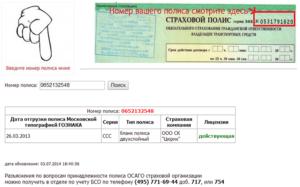 Проверка полиса ОСАГО по базе РСА онлайн