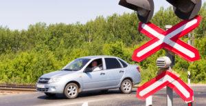 Штраф за проезд ж/д переезда на красный цвет