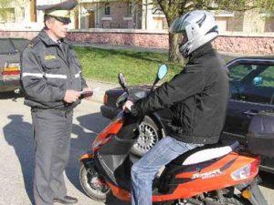 Штраф за управление скутером и мопедом без прав