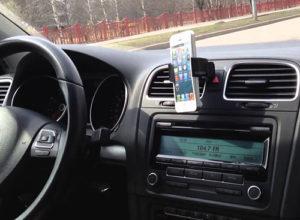 Способы крепления телефона или смартфона в автомобильном держателе
