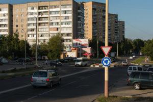 Порядок проезда перекрестка с круговым движением