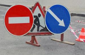 Объезд препятствия слева справа