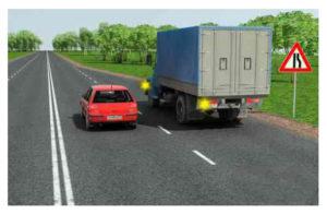 Знаки сужения дороги, кто уступает