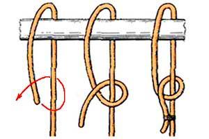 Как завязать узел на тросе