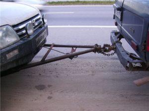 Жесткая сцепка для легковых и грузовых автомобилей