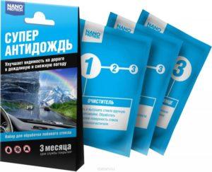 Выбор средства для автомобильных стекол Антидождь
