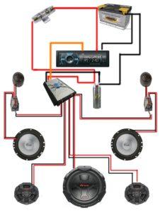 Подключение акустики к магнитоле и усилителю