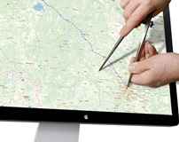 Как рассчитать километраж по карте между городами, расчет бензина по маршруту от точки до точки