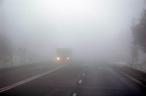 Недостаточная видимость: туман